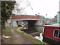 TQ0483 : Grand Union Canal bridge 186 - Dolphin Bridge by David Hawgood