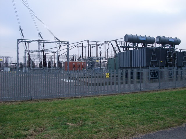 National Grid transformer station:: OS grid SK7554 :: Geograph Britain ...