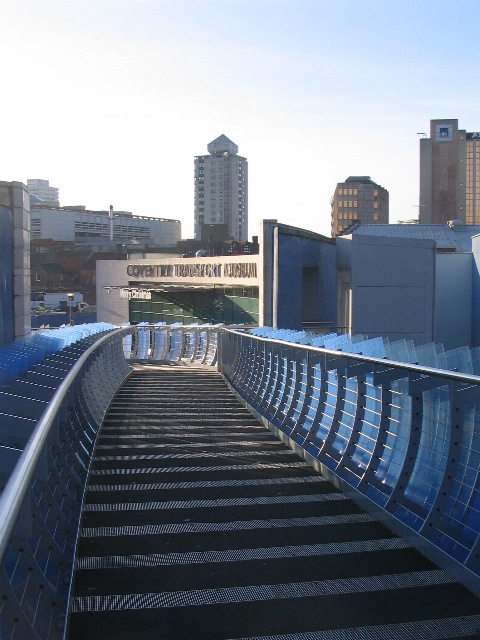 Blue bridge and transport museum
