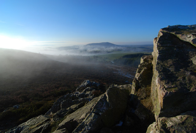 Corndon Hill from Nipstone Rock