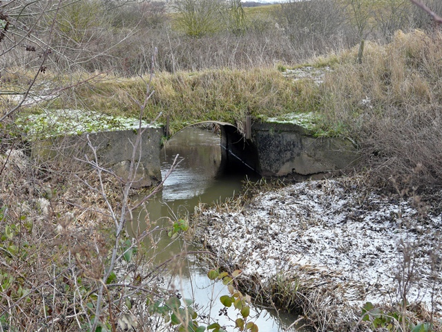 Culvert on Langley Brook, Middleton Lakes RSPB Reserve