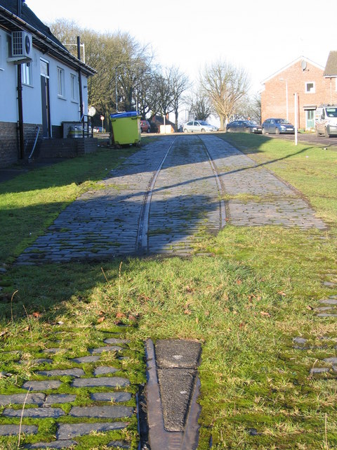 Remains of tram track. Rednal Terminus - The Lickeys.