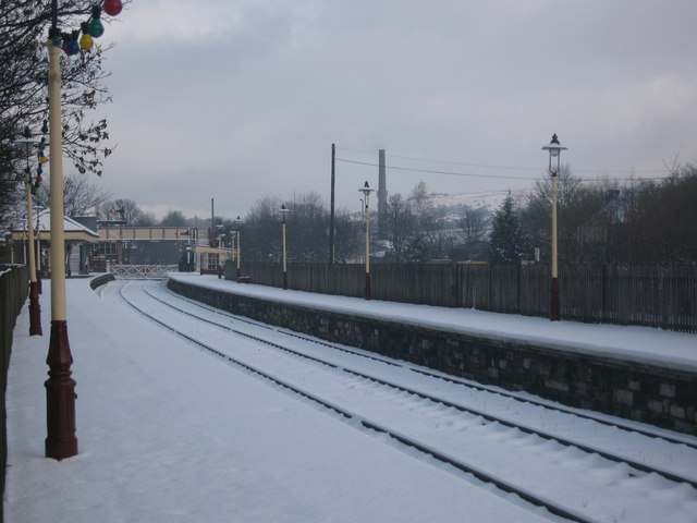 Ramsbottom Railway Station in Winter