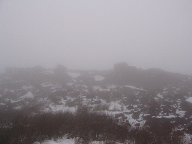Middle crag in the mist