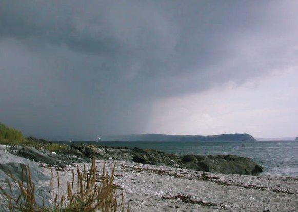 Summer storm over Gerrans Bay