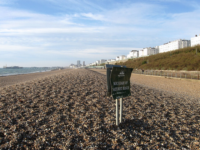 Nudist beach in britain