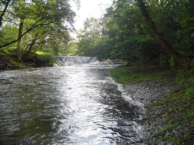 River Wenning weir & Salmon ladder