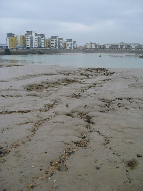 Sovereign Harbour at low tide