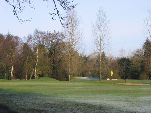 Lickey Golf Course, First green, winter rules.