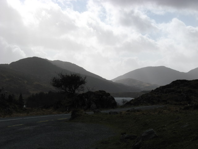 View over Looscaunagh Lough