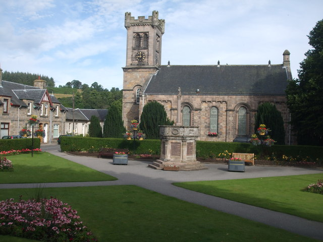 Aberlour Village Square and Church