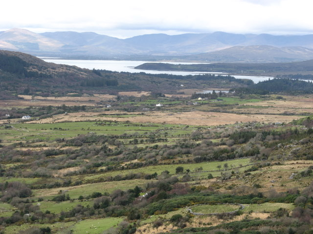 View from the Healy Pass towards Kilmakilloge Harbour