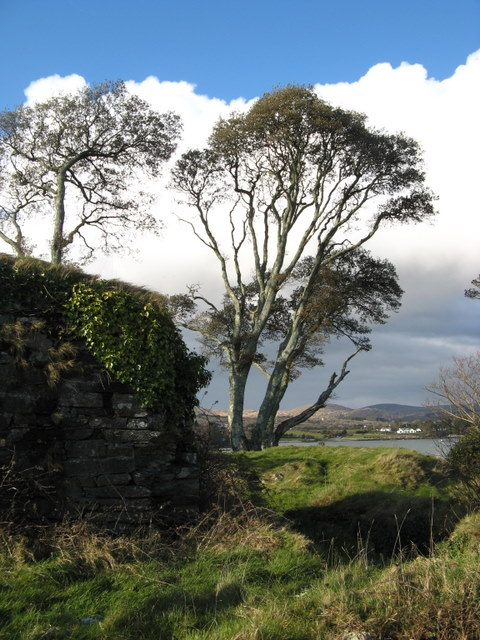 The remains of Dunboy Castle