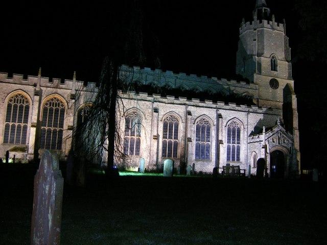 St Mary's Church at midnight