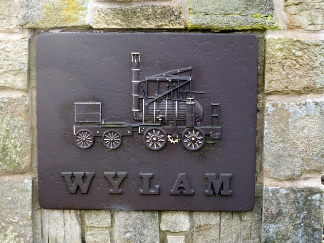 'Puffing Billy' - Welcome to Wylam road sign
