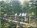 SJ7984 : Footbridge over the Bollin at Thorns Green by Stephen Craven