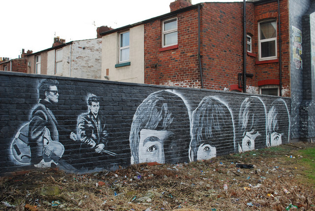 Beatles mural croxteth avenue gary rogers cc by sa for Beatles wall mural