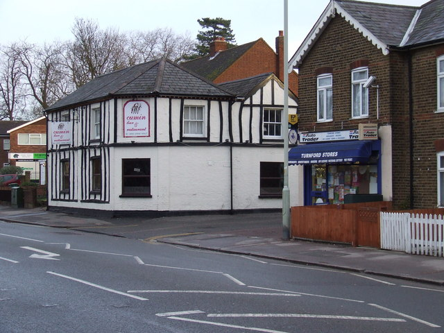 Turnford Massey Pub, now Cumin Indian Restaurant