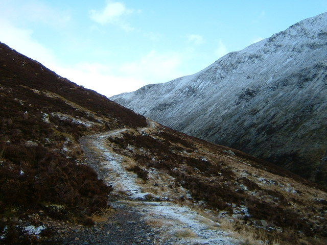 Path above the Allt nam Beith