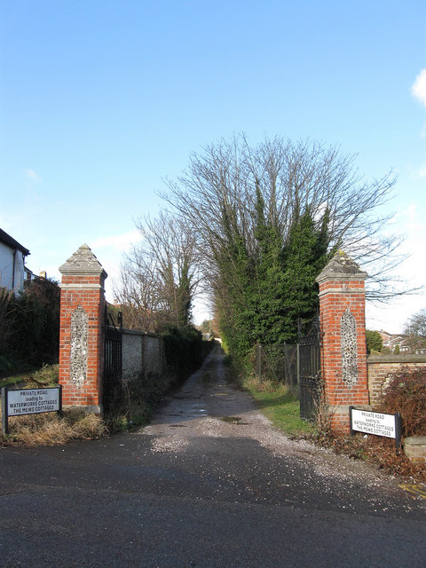 Entrance to Waterworks Cottages