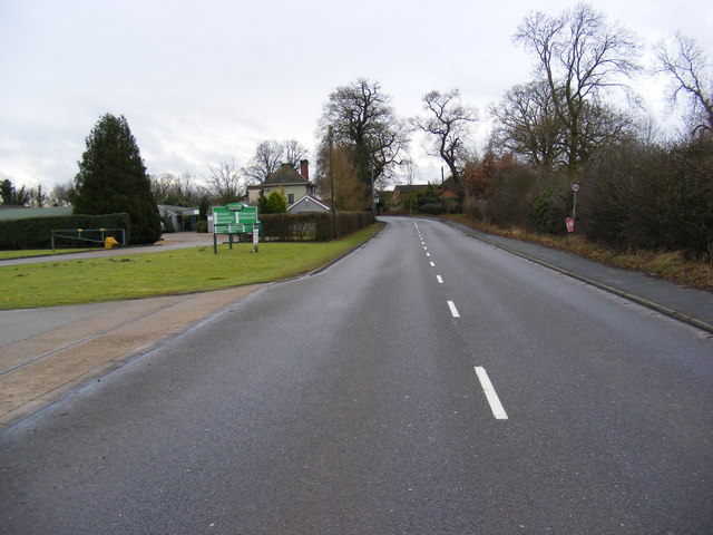 B1077 Westerfield Road near the Business Centre