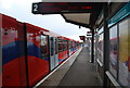 TQ3783 : DLR train to Stratford, Pudding Mill Lane Station by N Chadwick