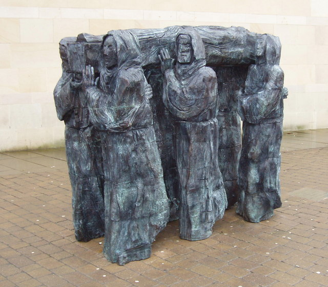 St Cuthbert's Journey, sculpture, Durham