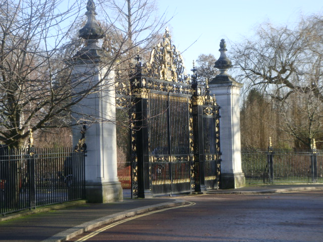 Ornamental Gates at entrance to Queen Mary's Rose Garden