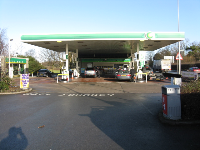 Over Tabley petrol station