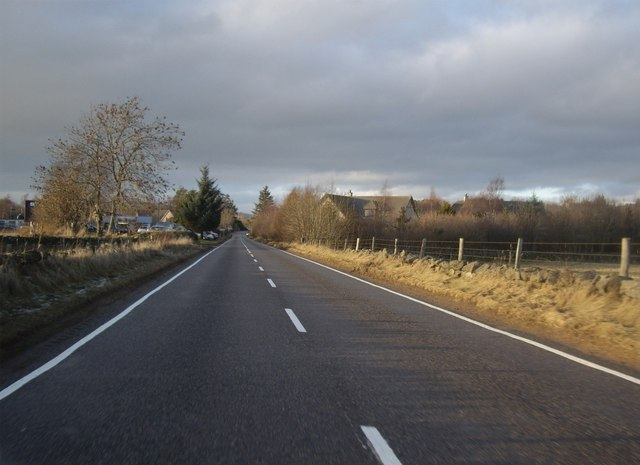 A980 approaching Torphins