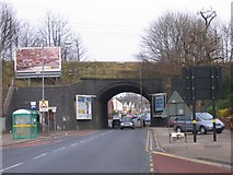 SP0990 : Railway Bridge over Slade Road, Erdington. by Roy Hughes