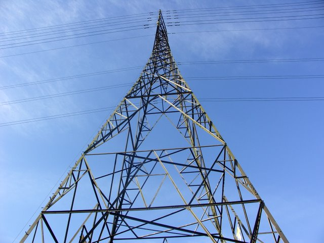 Electricity pylon on Ferndown common