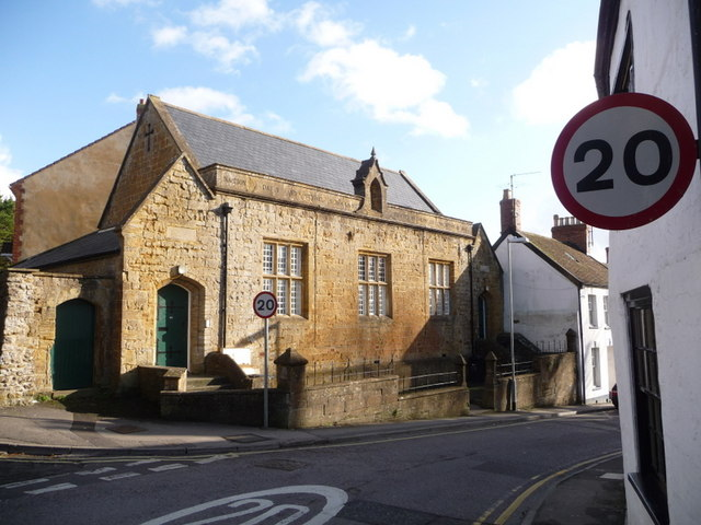 Ilminster: old school house in North Street