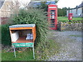 ST3715 : Whitelackington: postbox № TA19 22, phone box and eggboxes by Chris Downer