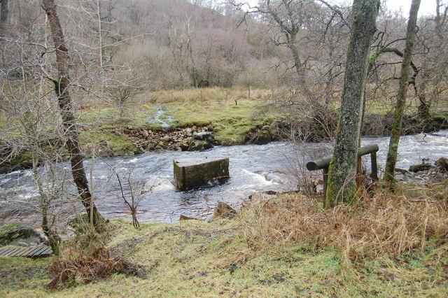 Remains of footbridge