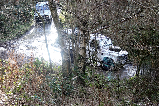 Land Rovers in News Wood, Eastnor