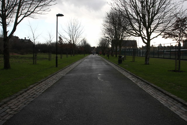 Path at Haggerston park