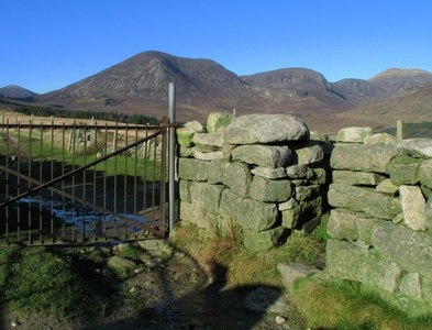 J3422 : Gate and stile in the Mourne Wall by Rossographer