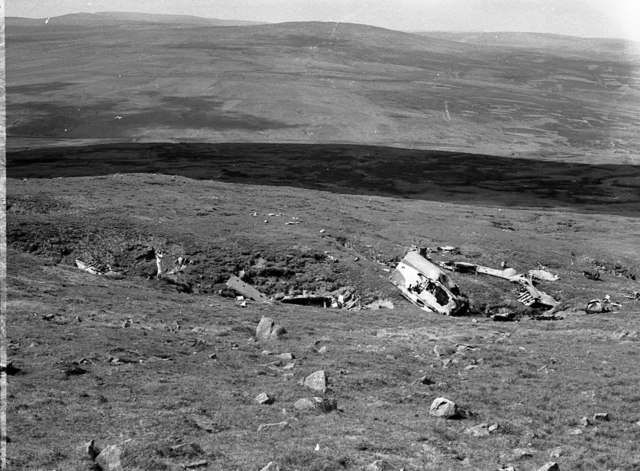 Stirling LK488 final resting place on Mickle Fell