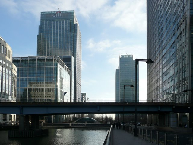 Docklands Light Railway Bridge at Canary Wharf