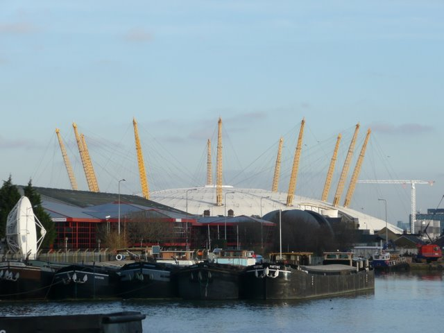 The O2 Arena from West India Millwall South Dock