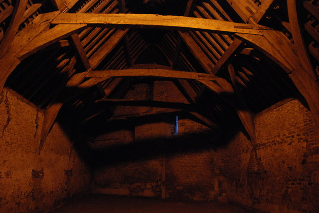 Inside the Tithe Barn on East Street, Lacock