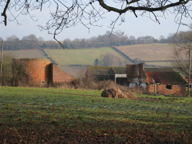 Derelict Oast House at Nore Farm, Blackham, East Sussex