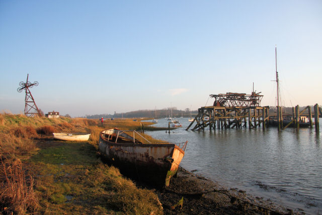 Old sand jetty, Alresford Creek