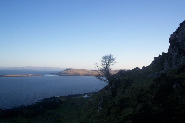 Staffin Bay and Island from Dunan