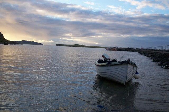 High tide at Staffin slipway