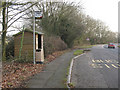 TQ9548 : Bus stop for Charing Crematorium by Stephen Craven