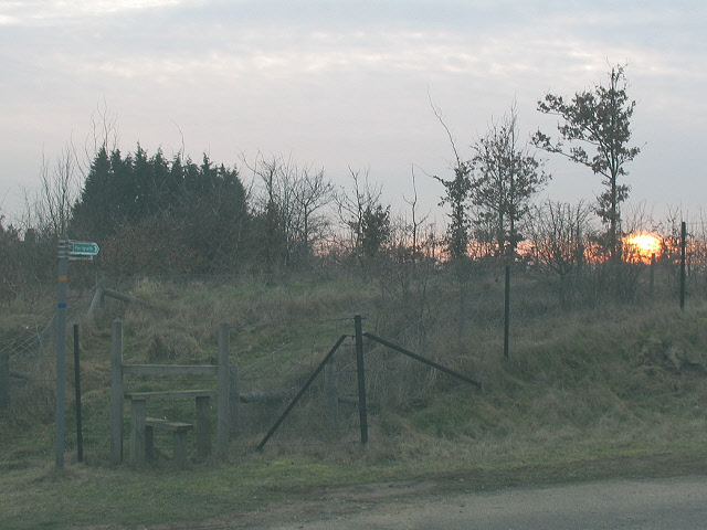 Stile at sunset
