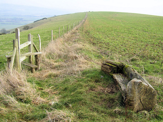 Memorial Bench on Iford Hill