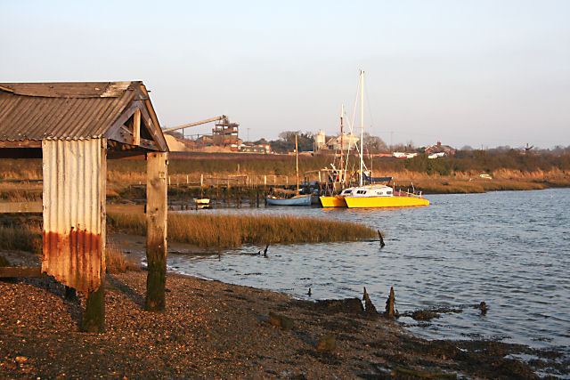 Old boathouse and landing stage